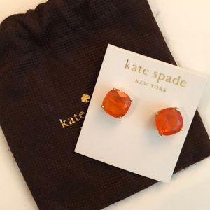 Orange Gumdrop Kate Spade Studs